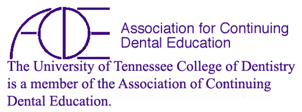 Logo for ACDE UTHSC colege of dendistry is a member of Association for Continuing Dental Education